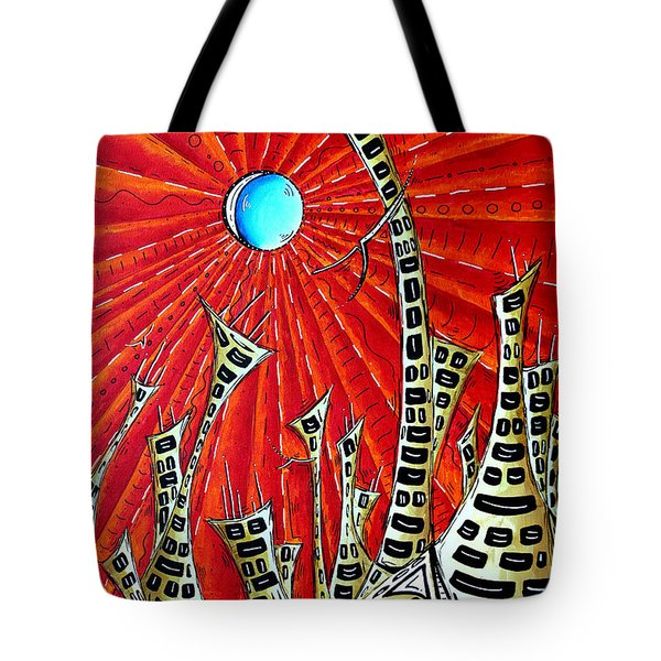Abstract Surreal Art Original Cityscape Painting The Eternal City By Madart Tote Bag by Megan Duncanson