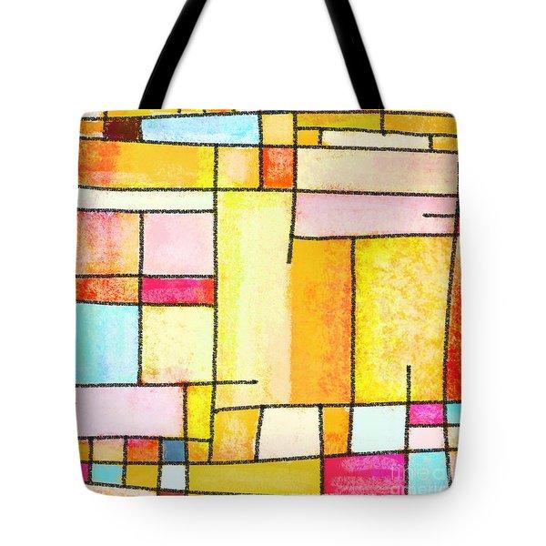 Abstract Town Tote Bag by Setsiri Silapasuwanchai