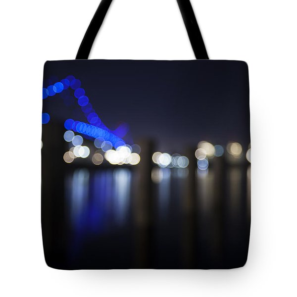 Abstract Vincent Thomas Bridge Tote Bag by Mike Raabe