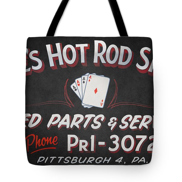 Ace's Hot Rod Shop Tote Bag by Clarence Holmes
