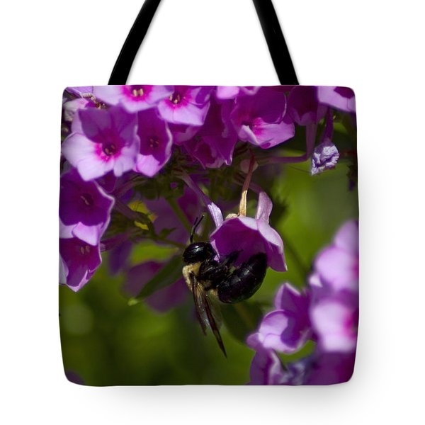 Acrobatic Bee Tote Bag by Sven Brogren