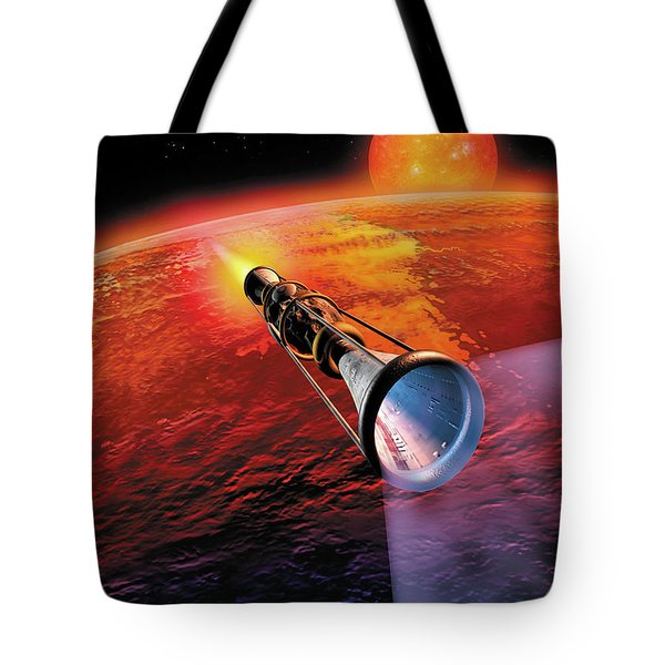 Across The Sea Of Suns Tote Bag by Don Dixon