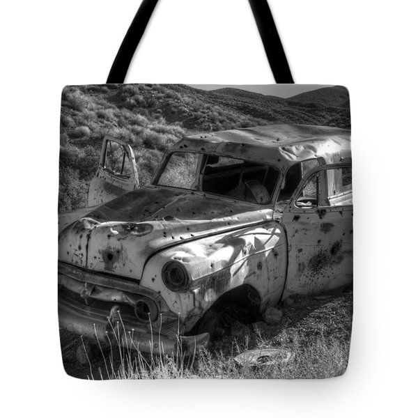 Air Conditioned By Bullet Tote Bag by Bob Christopher