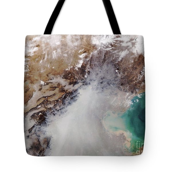 Air Pollution Over China Tote Bag by NASA / Science Source