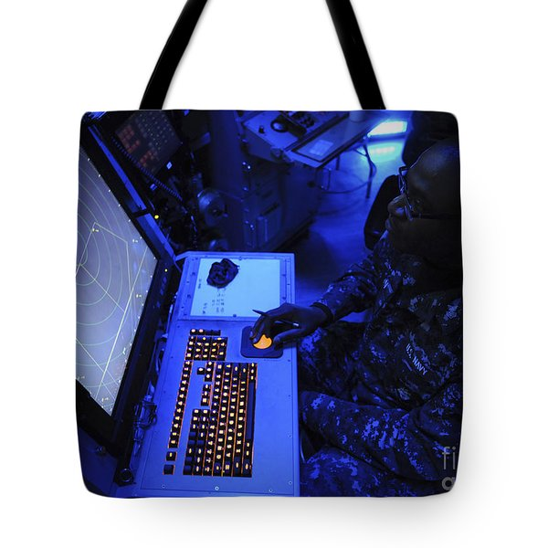 Air-traffic Controller Tracks Incoming Tote Bag by Stocktrek Images