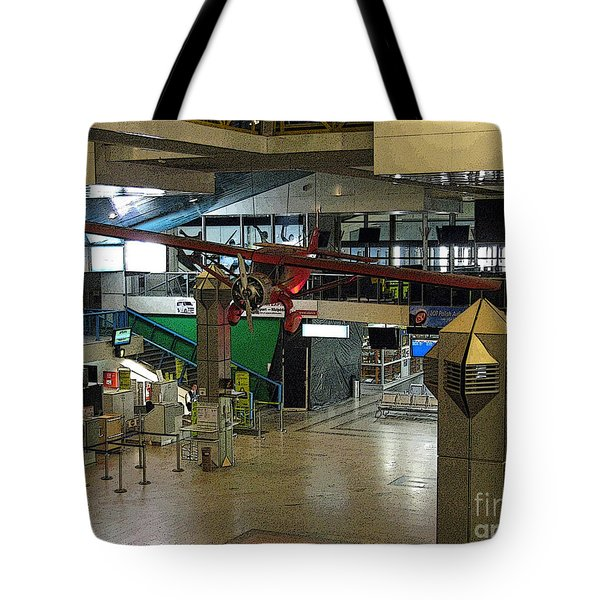 Airport Before The Busy Day. Vilnius. Lithuania. Tote Bag by Ausra Paulauskaite
