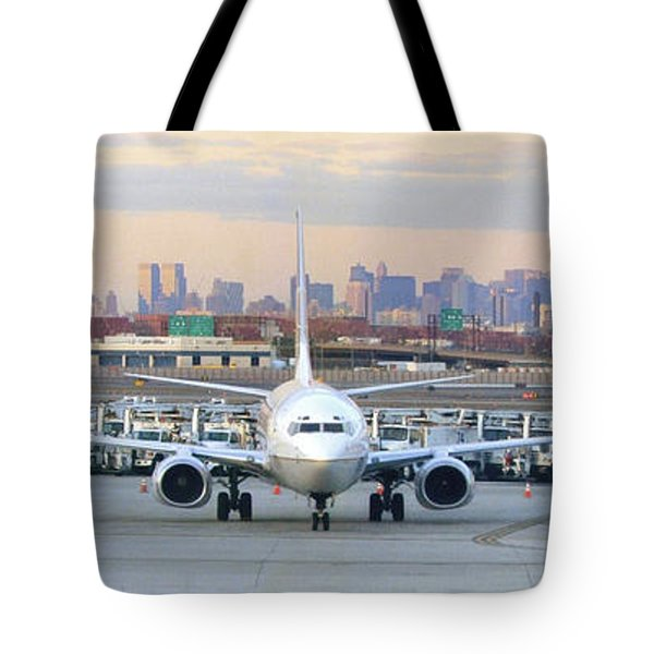 Airport Overlook The Big City Tote Bag by Mike McGlothlen