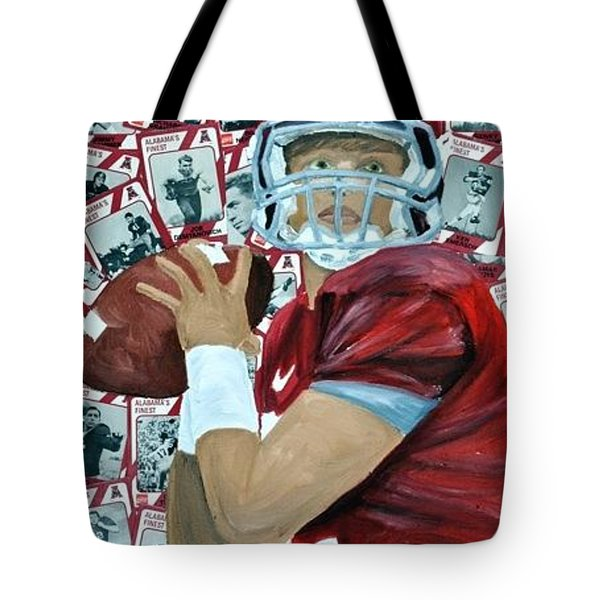 Alabama Quarterback Tote Bag by Michael Lee