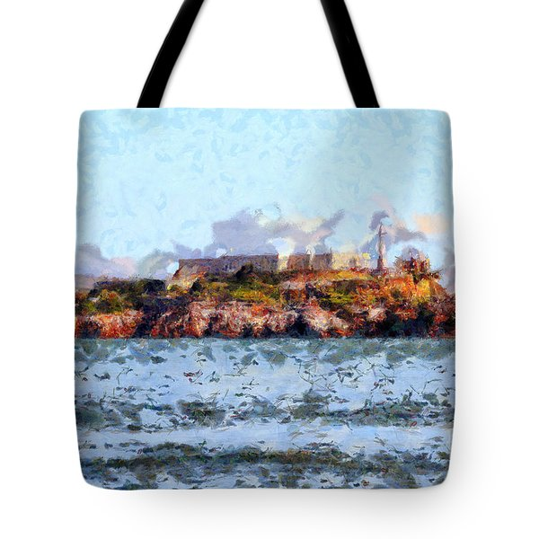 Alcatraz Island in San Francisco California . 7D14031 Tote Bag by Wingsdomain Art and Photography
