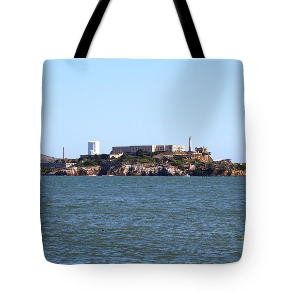 Alcatraz Island in San Francisco California . West Side . 7D14007 Tote Bag by Wingsdomain Art and Photography