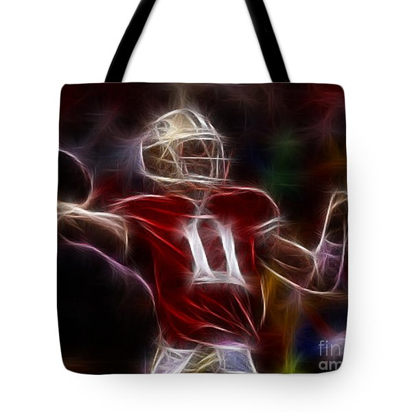 Alex Smith - 49ers Quarterback Tote Bag by Paul Ward