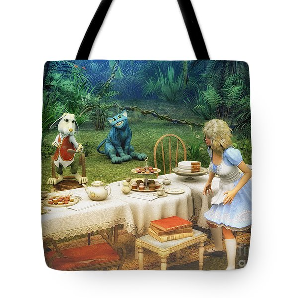 Alice In Wonderland Tote Bag by Jutta Maria Pusl
