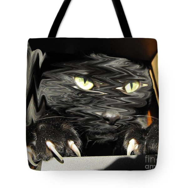 Alice's Cat Tote Bag by Rebecca Margraf