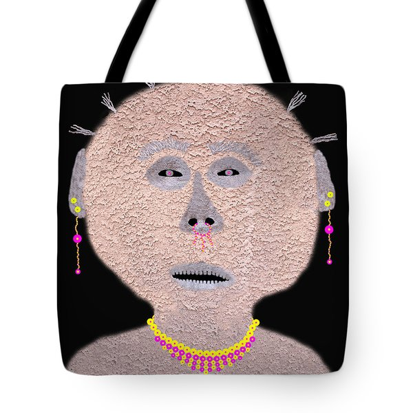 Alien  Lifeform From  Stucco  World  -  One Tote Bag by Carl Deaville