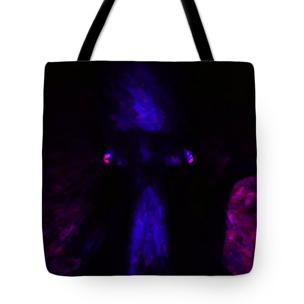 Aliens - First Contact - Blue Tote Bag by Wingsdomain Art and Photography