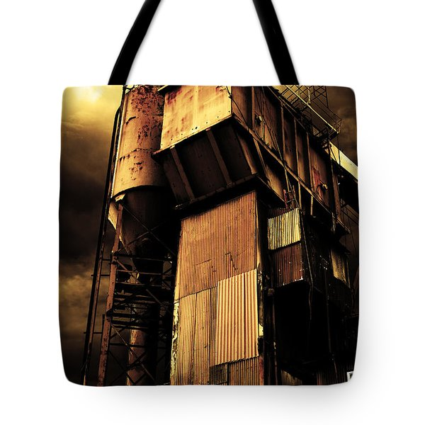 Alive And Well In America . The Old Concrete Plant In Berkeley California . Golden . 7d13967 Tote Bag by Wingsdomain Art and Photography