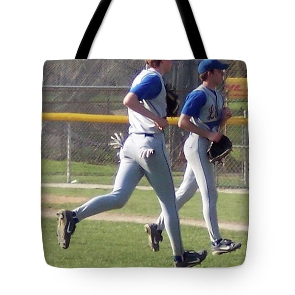 All Air Baseball Players Running Tote Bag by Thomas Woolworth