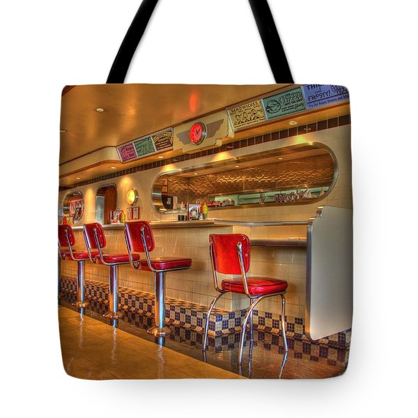 All American Diner 2 Tote Bag by Bob Christopher
