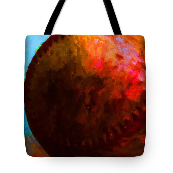 All American Pastime - Baseball Version 3 - Painterly Tote Bag by Wingsdomain Art and Photography