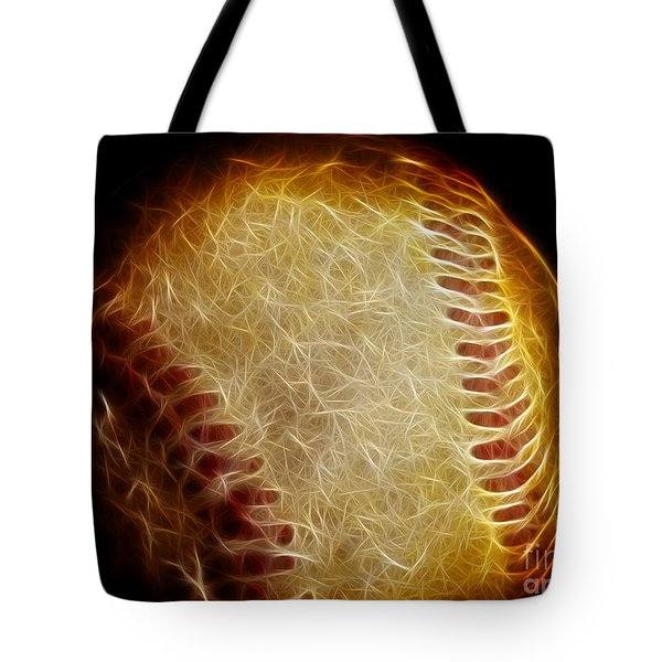All American Pastime - The Fastball Tote Bag by Wingsdomain Art and Photography