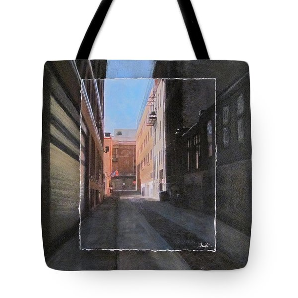 Alley Front Street Layered Tote Bag by Anita Burgermeister