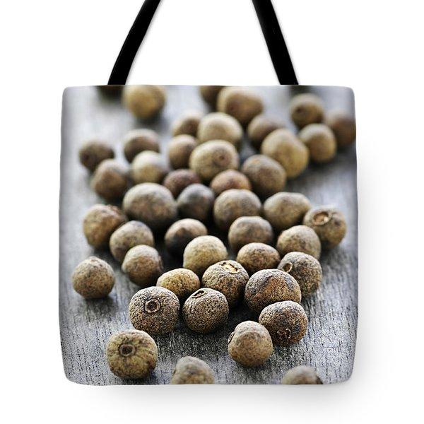 Allspice Berries Tote Bag by Elena Elisseeva