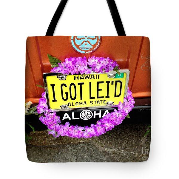 Aloha Tote Bag by Cheryl Young