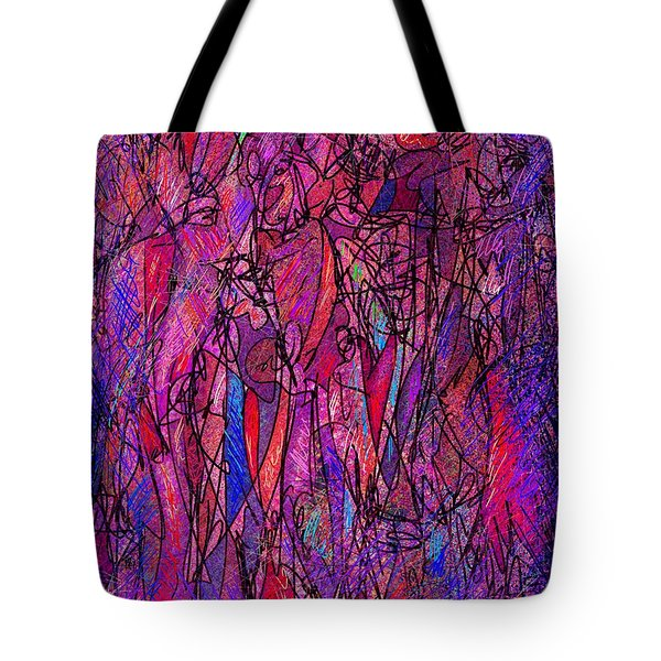 Alone In A Crowd Tote Bag by Rachel Christine Nowicki