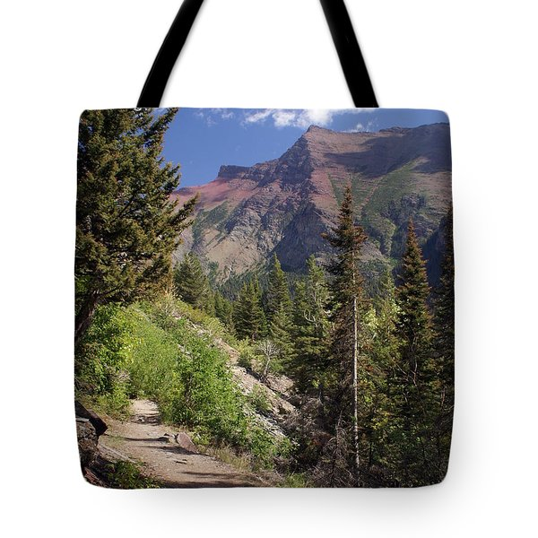 Along The Trail Tote Bag by Marty Koch