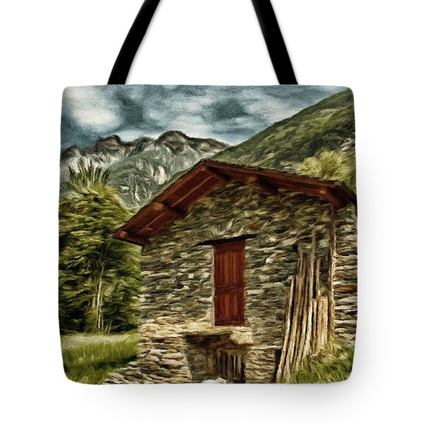Alpine Ruins Tote Bag by Jeff Kolker