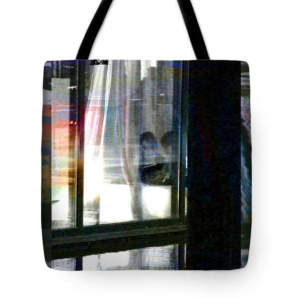 Alternate Reality - Mother And Son Reading Tote Bag by Lenore Senior