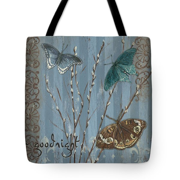 Always Kiss Me Goodnight Tote Bag by Debbie DeWitt