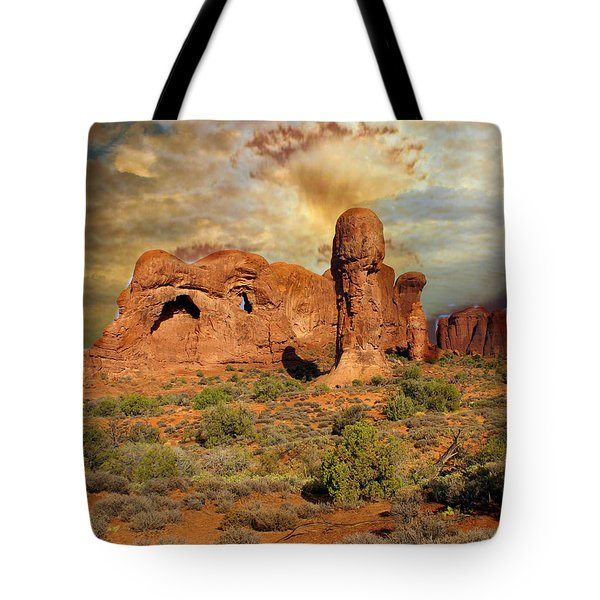 Amber Arches Tote Bag by Marty Koch