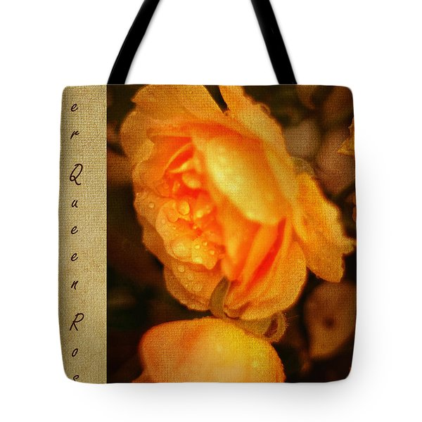 Amber Queen Rose Tote Bag by Jenny Rainbow