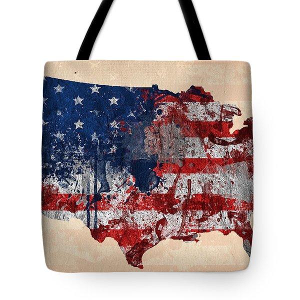 America Tote Bag by Mark Ashkenazi