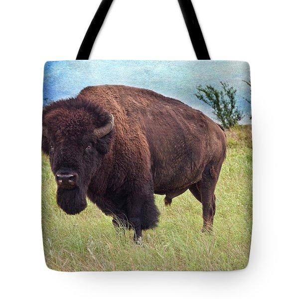 American Bison Tote Bag by Tamyra Ayles