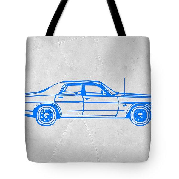 American Car Tote Bag by Naxart Studio