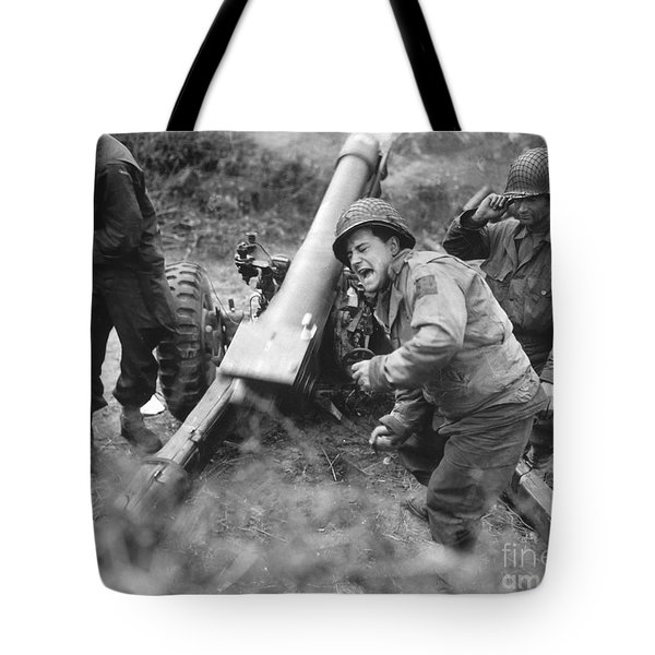 American Howitzers Shell German Forces Tote Bag by Stocktrek Images