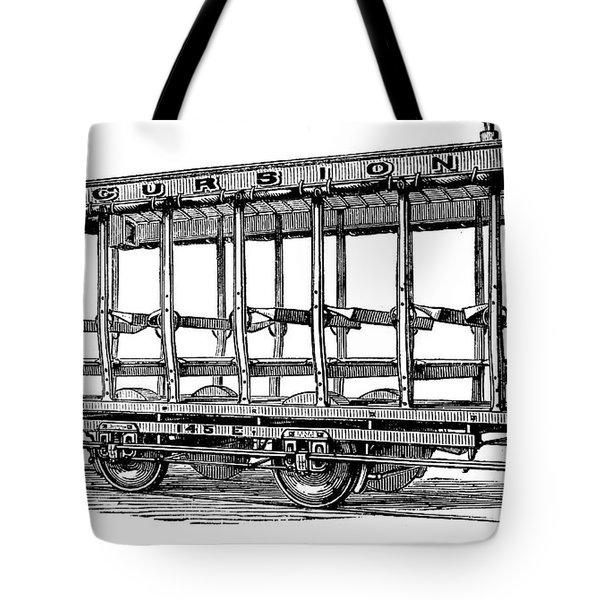 American: Streetcar, 1880s Tote Bag by Granger
