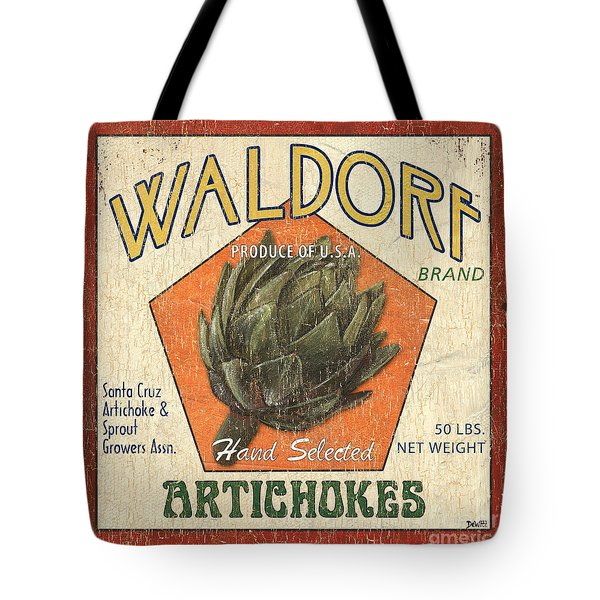Americana Veggies Tote Bag by Debbie DeWitt