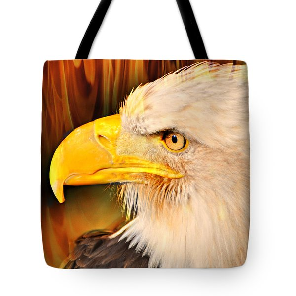 Americasn Bald Eagle Tote Bag by Marty Koch