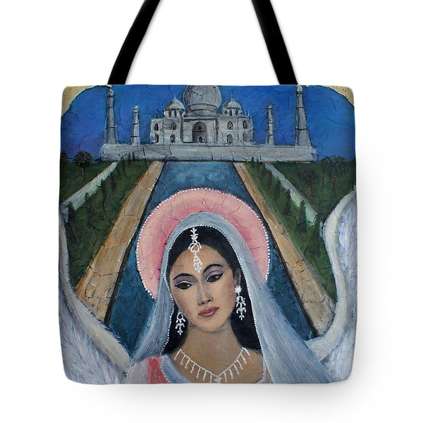 Amishi An Earth Angel Representing A Young Bride On Her Wedding Day Tote Bag by The Art With A Heart By Charlotte Phillips