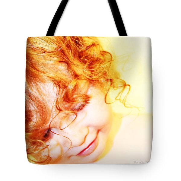 An Angels Smile Tote Bag by Kerri Ligatich