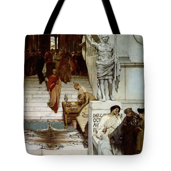 An Audience At Agrippa's Tote Bag by Sir Lawrence Alma-Tadema