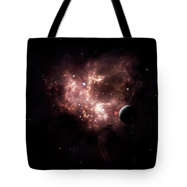 An Emission Nebula Is Viewed From Neaby Tote Bag by Brian Christensen