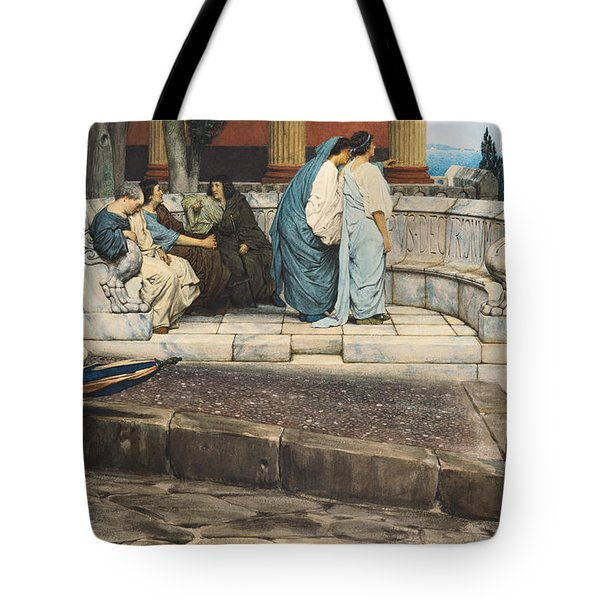 An Exedra Tote Bag by Sir Lawrence Alma-Tadema