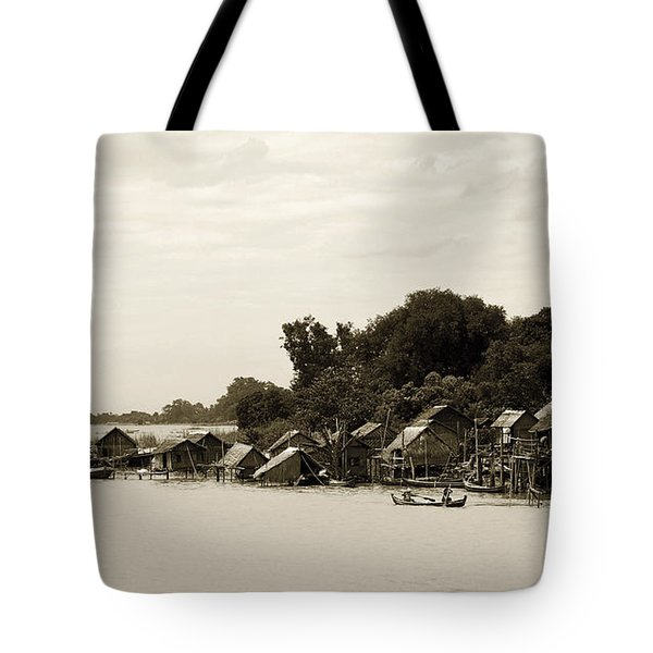 An Island Village On River Irrawaddy Tote Bag by RicardMN Photography