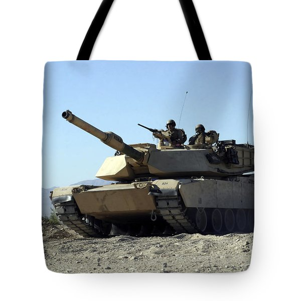 An M1a1 Main Battle Tank Tote Bag by Stocktrek Images