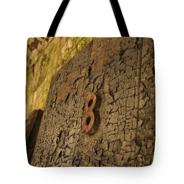 An Old Door At A Prison Tote Bag by Ellie Teramoto
