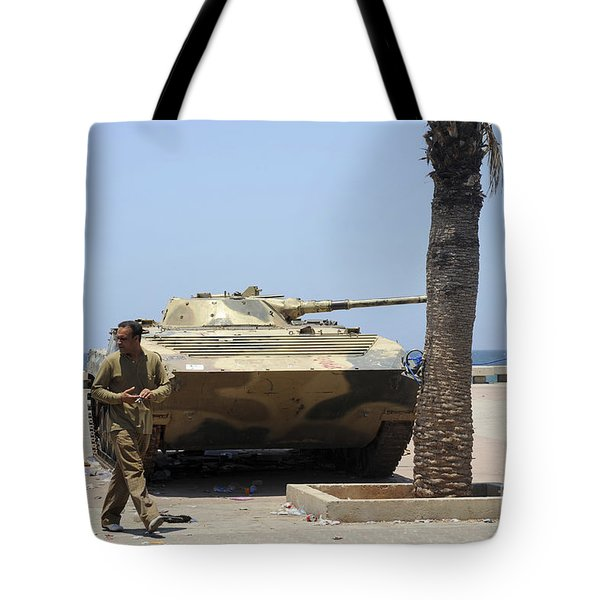 An Old Russian Bmp Armored Personnel Tote Bag by Andrew Chittock